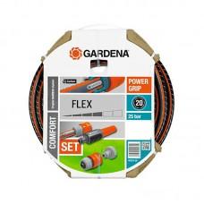 """Шланг поливочный Gardena Flex 9x9 1/2"""" 20 метров (Комплект)"""