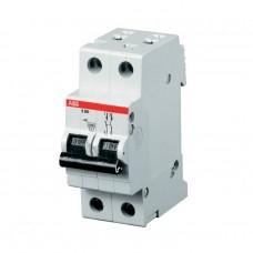 Автоматический выключатель двухполюсный ABB SН 202 B 16А