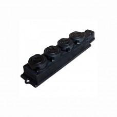Розетка наружной установки 4-ая с заглушками Lezard 106-0400-107