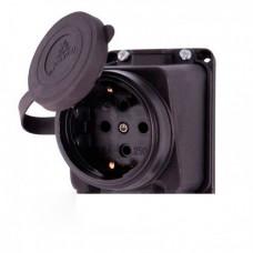Розетка наружной установки наклонная с заглушкой Lezard 106-0400-104