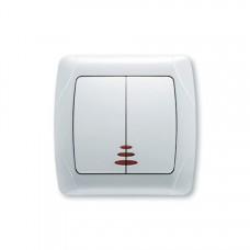 Выключатель VIKO Carmen двухклавишный  с подсветкой 90561050
