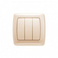 Выключатель VIKO Carmen кремовый трехклавишный 90562068