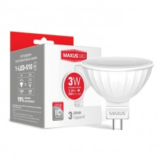 Лампа светодиодная Maxus 1-LED-510 Яркий свет MR16 3W 4100K 220v