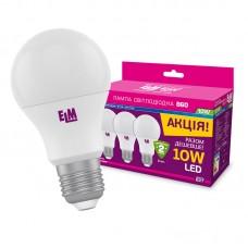 Набор ламп светодиодных Led ELM B60 PA10L Яркий свет 10W E27, 18-0099