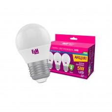 Набор ламп светодиодных, шар PA10L ELM 5W E27 4000K, 18-0100 (3 шт.)
