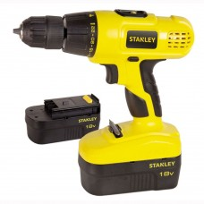 Дрель-шуруповерт ударная аккумуляторная Stanley 18v, NI-CD STDC18HBK-RU