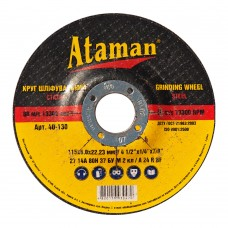 Диск шлифовальный по металлу Ataman 115х6х22.23