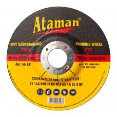 Диск шлифовальный по металлу Ataman 125х6х22.23