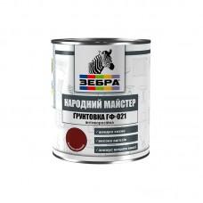 Грунтовка ГФ-021 боровик сосновый «Народный мастер» 587 Зебра 0.9 кг