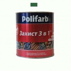 Защитная эмаль 3 в 1 Polifarb морская волна 2.7 кг