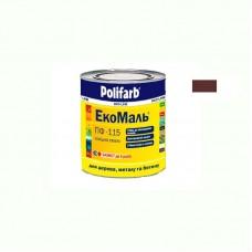 Экомаль ПФ - 115 Polifarb красно коричневая 0.9 кг