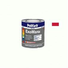 Грунтовка ЭКОМАЛЬ ГФ - 021 Polifarb красно коричневая 0.9 кг