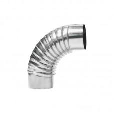 Отвод оцинкованная сталь гофрированный D100 мм 90°