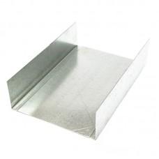 Профиль UW 100 металлический оцинкованный 3 метра, 0.45 мм