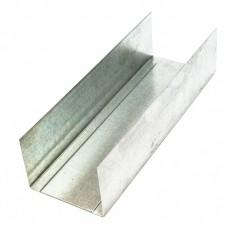Профиль UW 50 металлический оцинкованный 3 метра, 0.45 мм