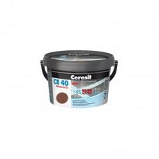 Затирка для швов Ceresit CE 40 кирпичный, 2 кг