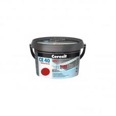 Затирка для швов Ceresit CE 40 красная, 2 кг