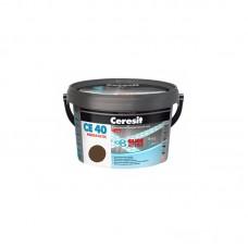 Затирка для швов Ceresit CE 40 орех, 2 кг