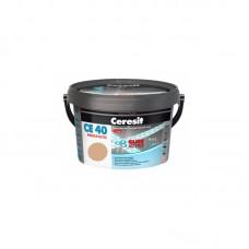 Затирка для швов Ceresit CE 40 персиковая, 2 кг