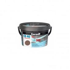 Затирка для швов Ceresit CE 40 сиена, 2 кг