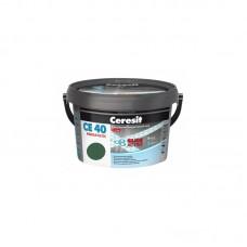 Затирка для швов Ceresit CE 40 зеленая, 2 кг