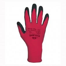 Перчатки Doloni красные с латексным покрытием 4150