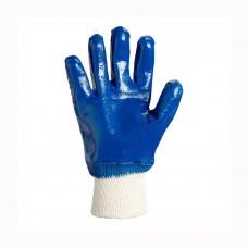 Перчатки Doloni нитрил синие 850 вязаный манжет