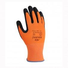 Перчатки Doloni оранжевые, облив черный латекс 4556