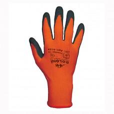 Перчатки Doloni оранжевые с латексным покрытием 4159