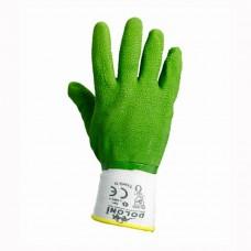 Перчатки Doloni ребристые с латексным покрытием 4526