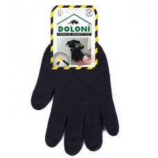 Перчатки Doloni двойные черные 540